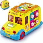 """Autobuz Scolar premium inteligent, cu lumini si sunete, jucarie educativa, 8 moduri dinamice si interesante de joaca """"Intellectual SchoolBus"""""""
