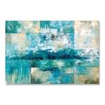 Hullámok, Tenger, Absztrakt, Kék - Vászonkép, 80 x 120 cm