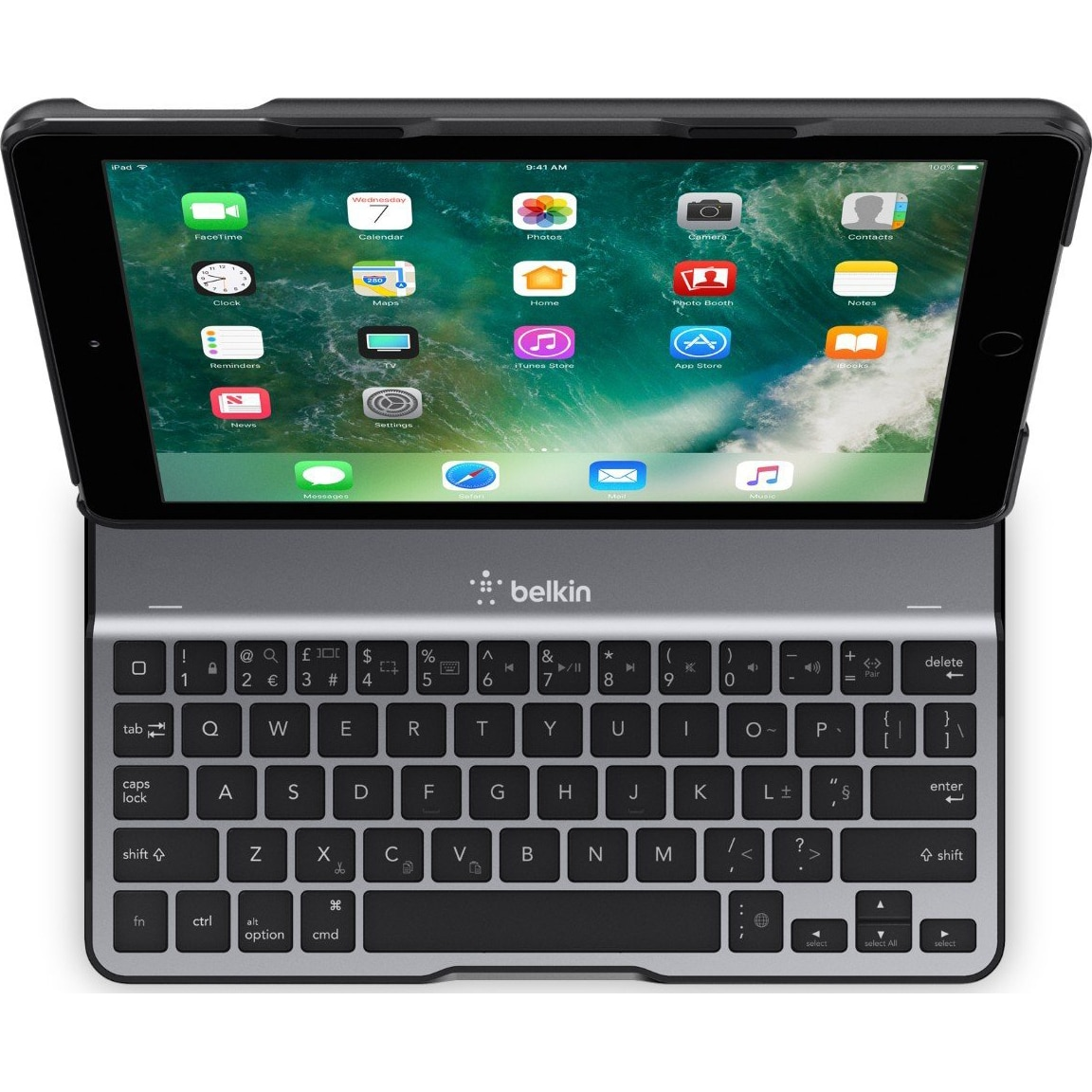 "Fotografie Husa de protectie Belkin QODE Ultimate Lite pentru Apple iPad 9.7"" 6th Generation (2018), Tastatura, Black"