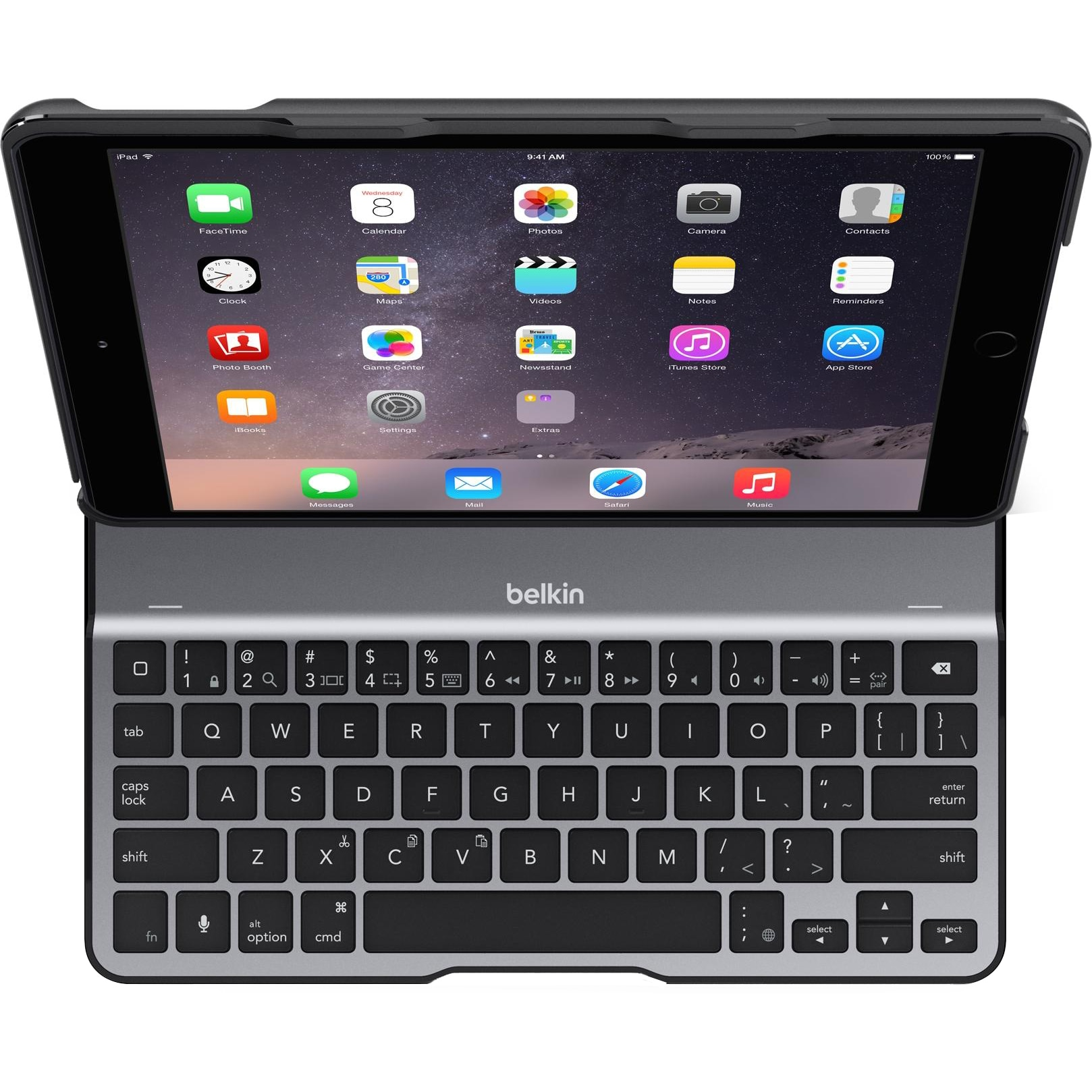 """Fotografie Husa de protectie Belkin QODE Ultimate Lite pentru Apple iPad Pro (9.7"""") / iPad Air 2, Tastatura, Black"""