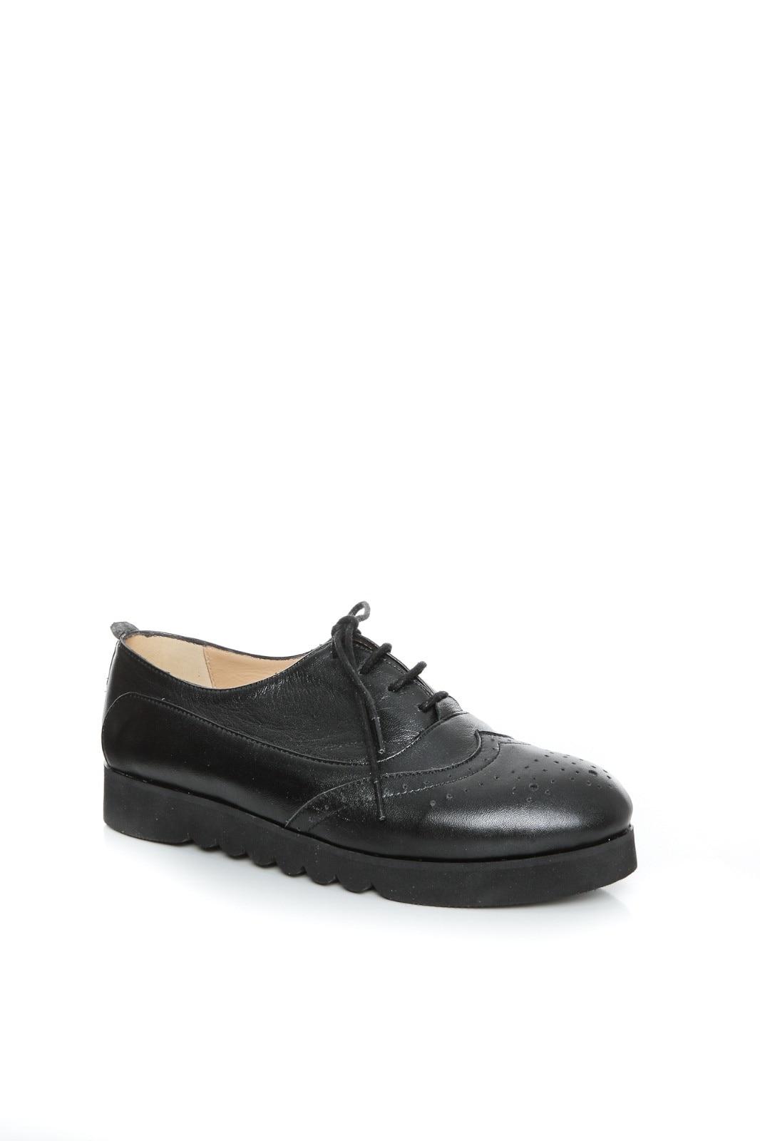 oficial listă nouă cele mai bune oferte Pantofi dama din piele Oxford, Ana, Negri, Marime 39 - eMAG.ro