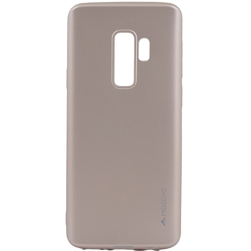 Fotografie Husa de protectie Meleovo Silicon Soft Slim pentru Samsung Galaxy S9 Plus, Auriu
