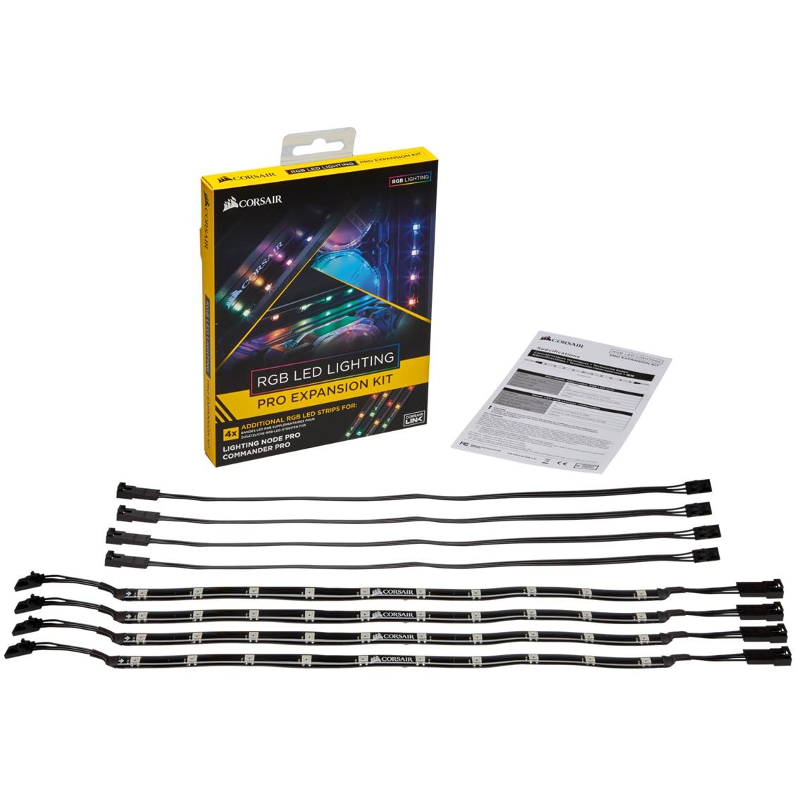 Fotografie CORSAIR RGB LED Lighting PRO Expansion Kit
