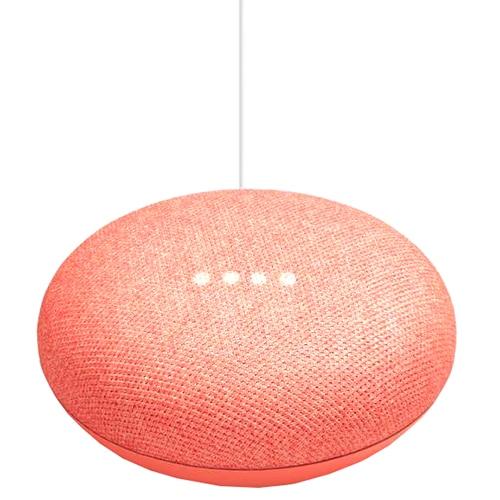 Fotografie Boxa inteligenta Google Home mini, rosu