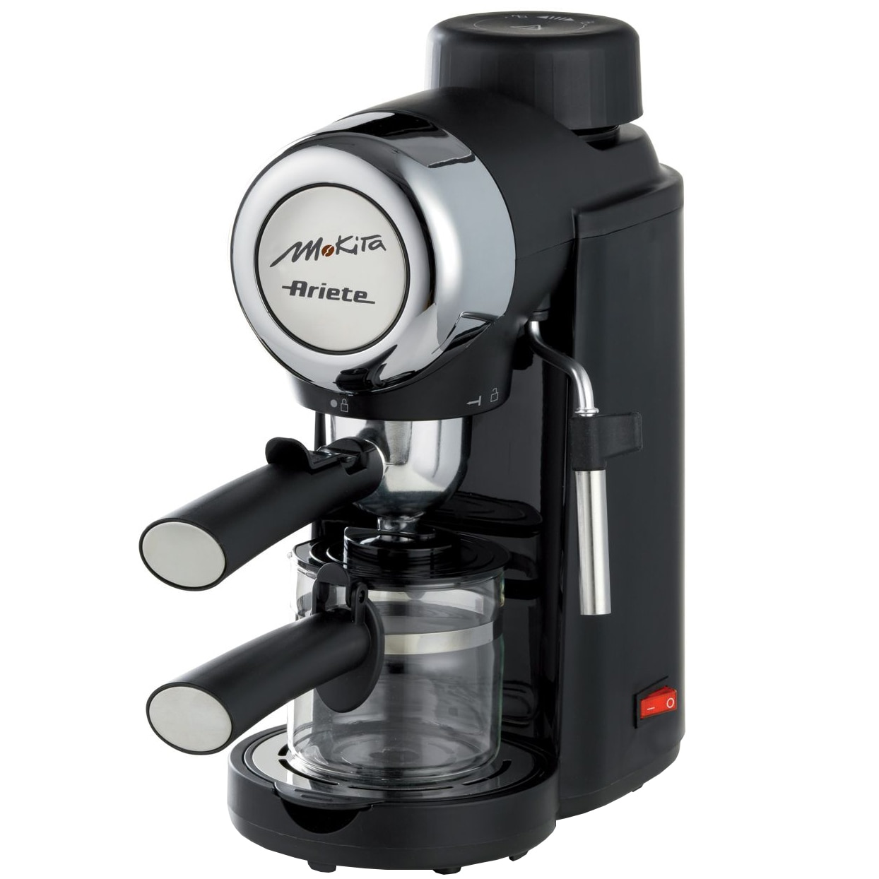 Fotografie Espressor Ariete Mokita 1340, 5 bar, 800W, 4 cesti, Negru