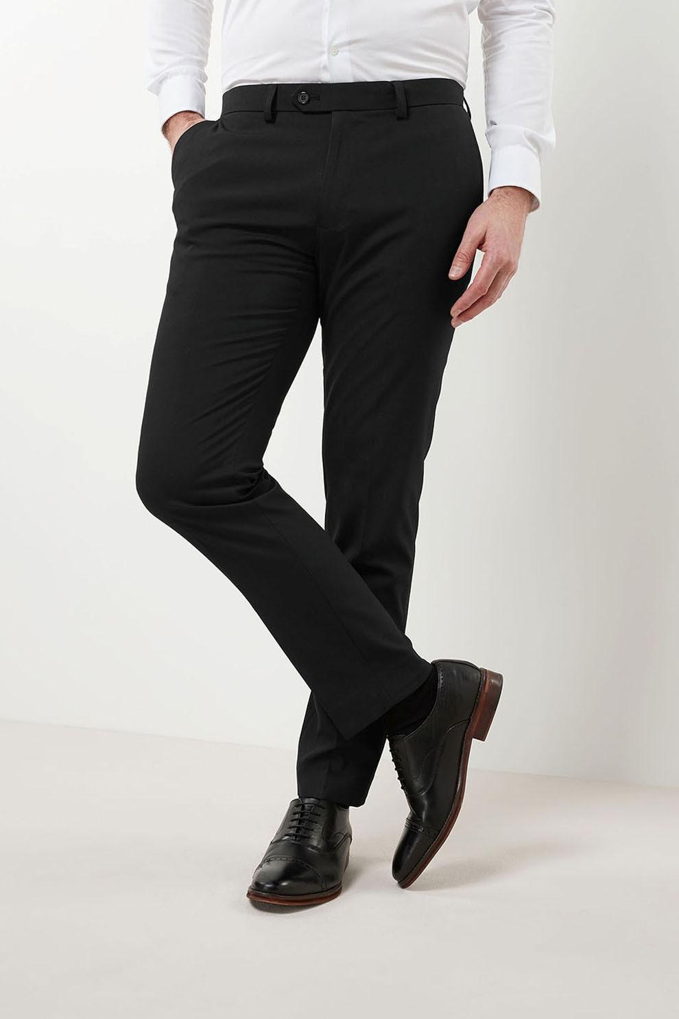 fekete alkalmi nadrág férfi