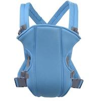 Állítható kényelmes kenguru babahordozó, kék színű, 15 kg- ig