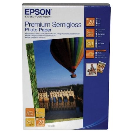 Фото хартия Epson Semigloss C13S042054, 10смX15см