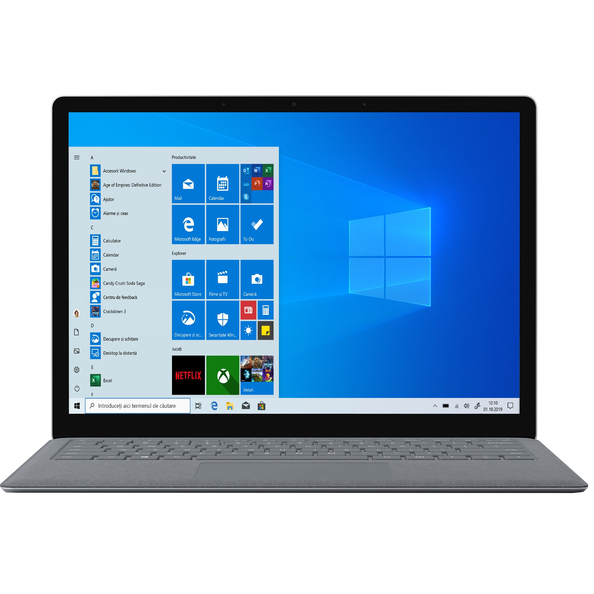"Fotografie Laptop ultraportabil Microsoft Surface DAL-00012 cu procesor Intel® Core ™ i7-7660U pana la 4.00 GHz, Kaby Lake, 13.5"", Touch, 16GB, 512GB SSD, Intel® Iris™ Plus Graphics 640, Microsoft Windows 10 S, Platinum"
