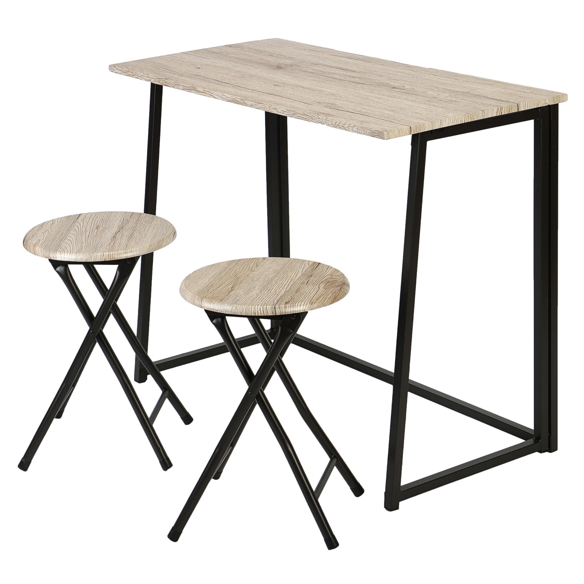 Kring Bavaria Étkező szett: Asztal + 2 szék, Összecsukható, Sonoma