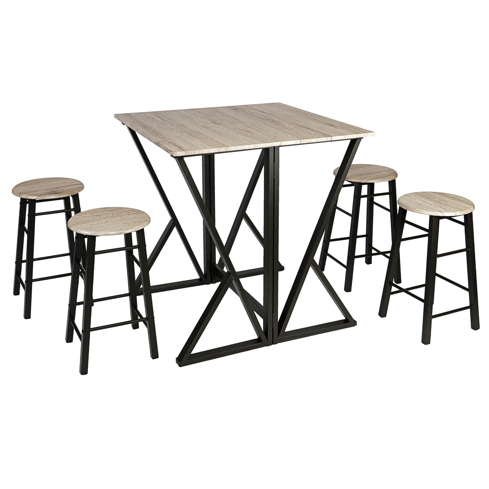 Fotografie Set Kring Enna, masa extensibila si 4 scaune bucatarie / bar, Sonoma