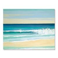 Картинa Канава Artfoyer, Море, Плаж, Bълни, Cлънце, 80 x 100 см