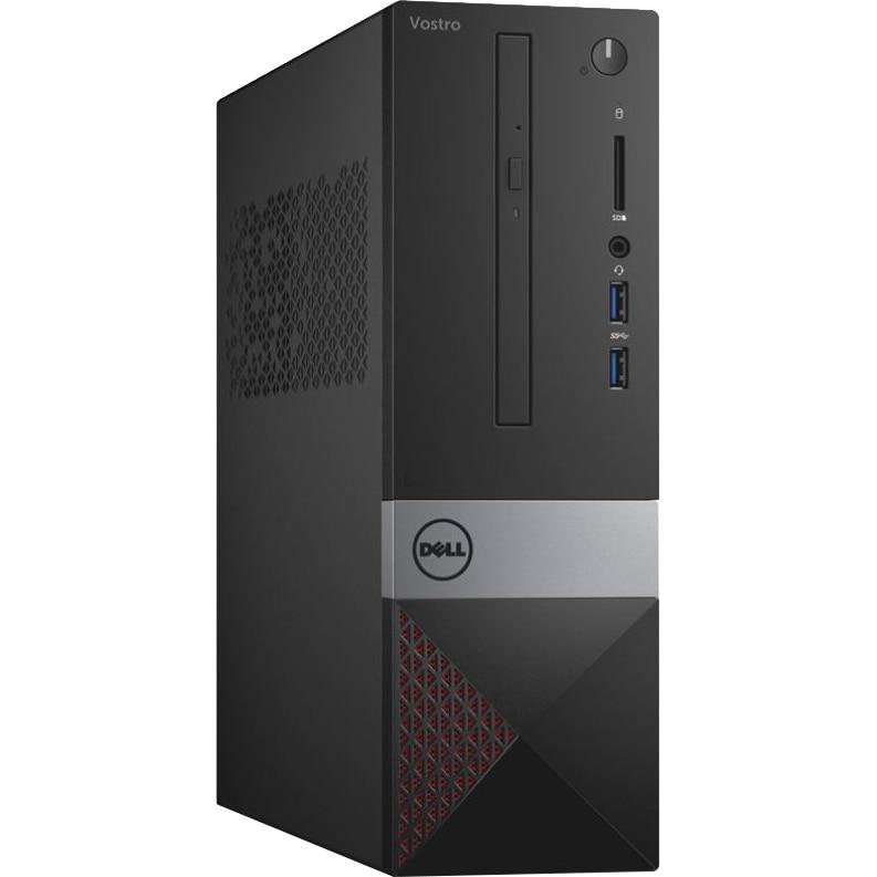 Fotografie Sistem PC Desktop Dell Vostro 3268 SFF cu procesor Intel® Core™ i5-7400 pana la 3.50 GHz, Kaby Lake, 8GB, 256GB SSD, Intel HD Graphics, Microsoft Windows 10 Pro, Mouse + Tastatura, Black