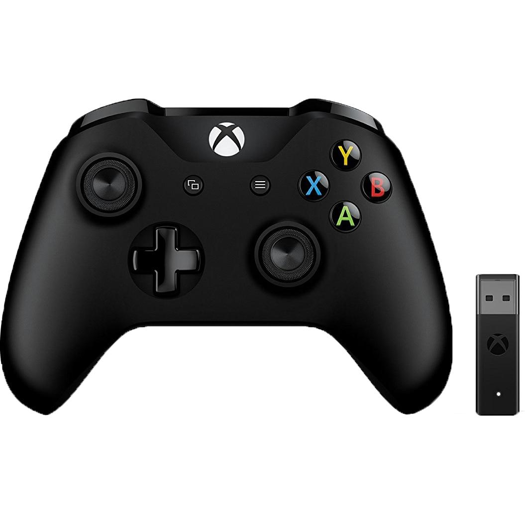 Fotografie Controller wireless Microsoft Xbox cu adaptor pentru PC