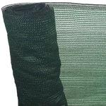 Árnyékoló Háló 1 X 50 M - Zöld 90 G/m2 - Fényszűrő Belátásgátló Védőháló Teraszra És Kerítésre - Uv