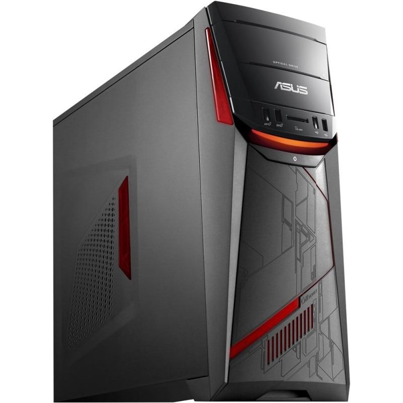 Fotografie Sistem Desktop PC Gaming ASUS G11DF-RO007D cu procesor AMD Quad Core RYZEN 5 1400 pana la 3.40 GHz, 8GB, 1TB, DVD-RW, AMD Radeon RX 480 4GB, free DOS, mouse + tastatura
