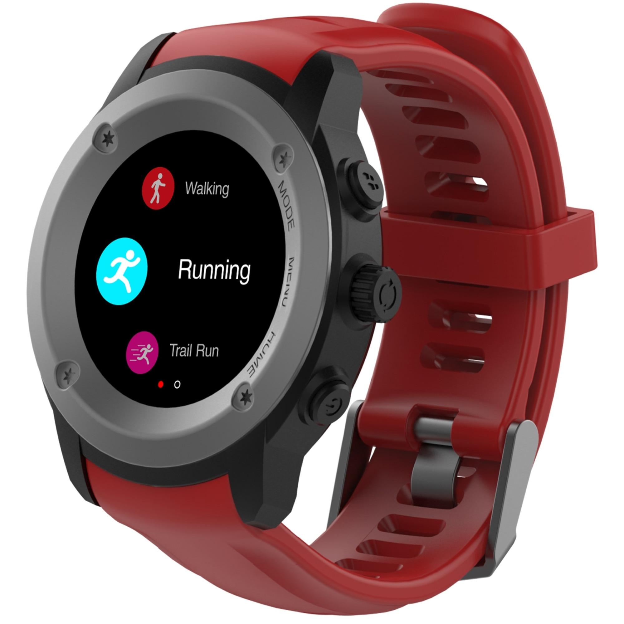 Fotografie Ceas smartwatch MaxCom FitGo FW17 Power, GPS, Sport band, Red