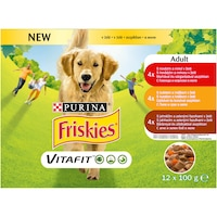 Friskies Adult nedves kutyaeledel, aszpikos válogatás, 12x100 g