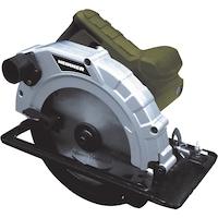 Циркуляр Heinner, 1400 W, 230 V, 5000 об/мин, 185 мм диаметър на диска + Направляваща релса + Комплект карбонови четки + Ключ