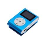 Mini MP3 Player cu display LCD, albastru culoare slot microSD