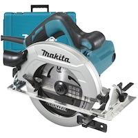 Циркуляр Makita HS7611K, 1600 W, 5500 об/мин, 190 мм диаметър на диска, 65 мм дълбочина на рязане + страничен водач + гаечен ключ + накрайник за конектор + калъф за носене