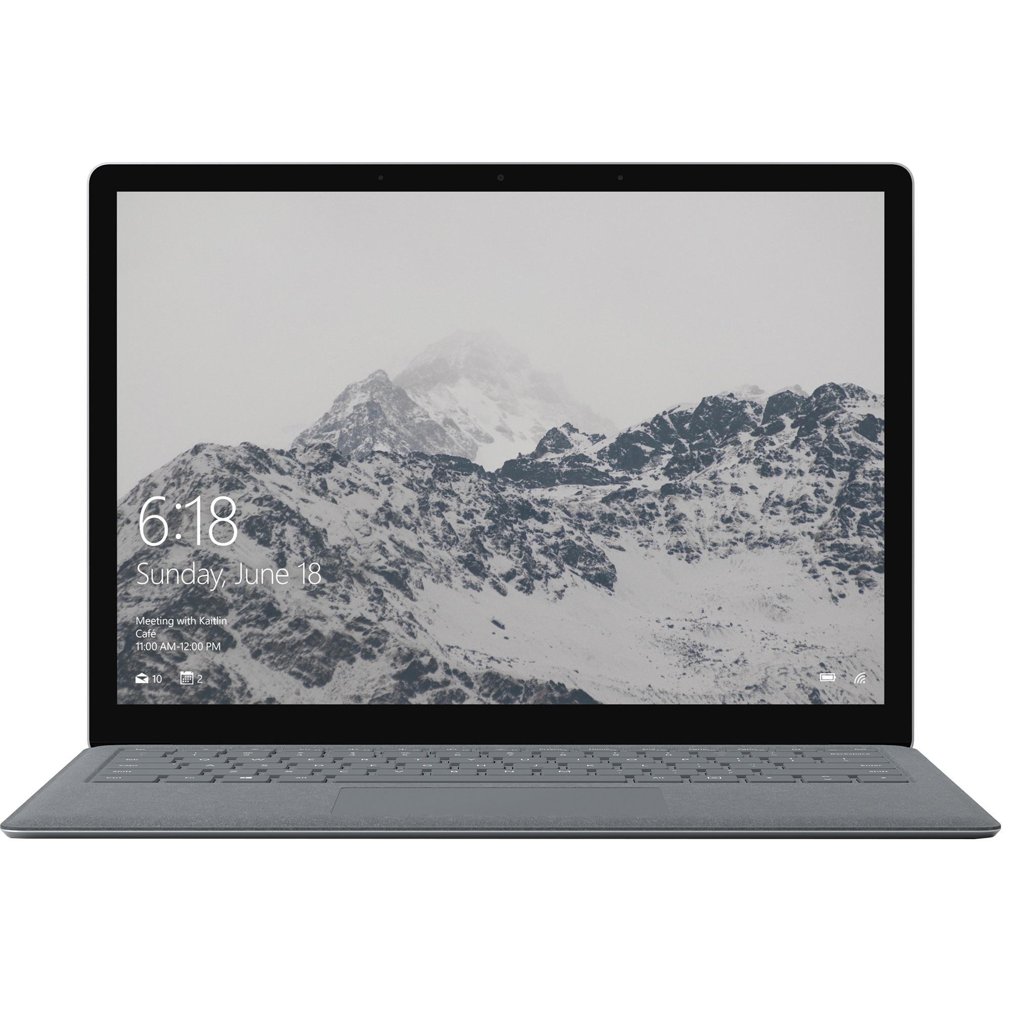"Fotografie Laptop ultraportabil Microsoft Surface D9P-00018 cu procesor Intel® Core ™ i5-7200U pana la 3.10 GHz, Kaby Lake, 13.5"", Touch, 4GB, 128GB SSD, Intel® HD Graphics 620, Microsoft Windows 10 S, Platinum"