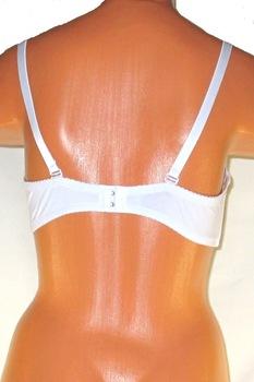 Pánt nélkül hordható,merevítős,push-up melltartó,fehér,90/B