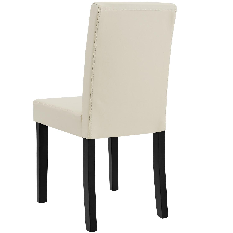 [en.casa]® Étkezőszék Zágráb párnázott műbőr szék 6 darabos szett 90 x 42 x 48 cm krémszín