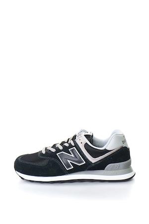 New Balance, Велурени спортни обувки 574, Черни, 10