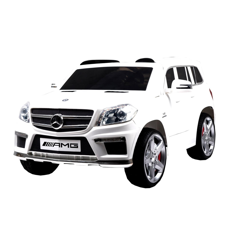 Fotografie Masinuta electrica cu telecomanda pentru copii, Mappy Mercedes Benz GL63, Alb