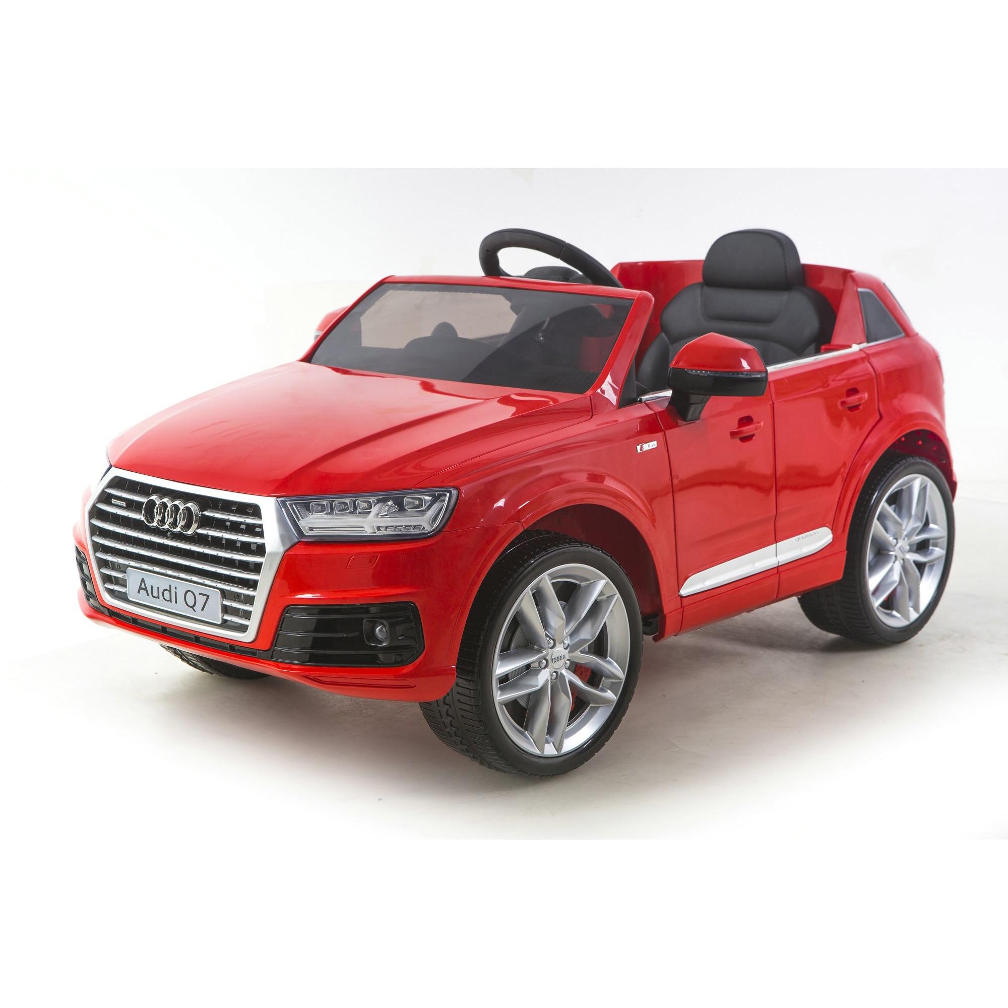 Fotografie Masinuta electrica cu telecomanda pentru copii, Mappy, Audi Q7, Rosu