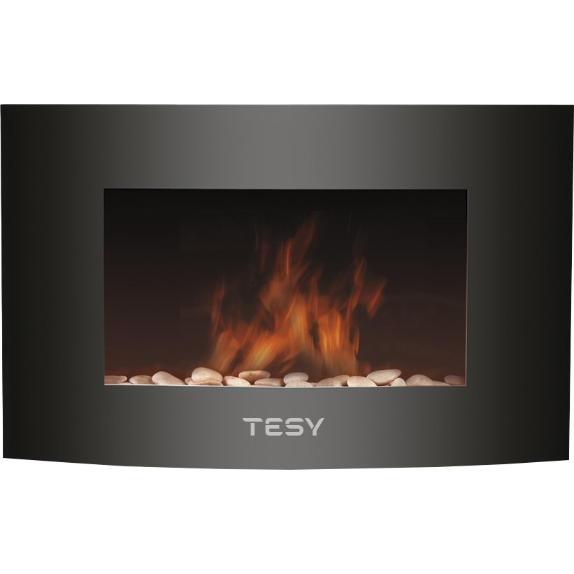 Fotografie Semineu electric de perete TESY WEF200SRELW, 2000W, display LED, telecomanda, ERP2018