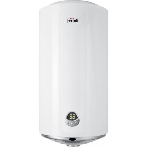Fotografie Boiler electric Ferroli TND Plus 100, 1500 W, 100 l, 3 trepte putere, panou comanda digital, functie Smart