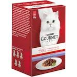 Храна за котки в зряла възраст PURINA® GOURMET® Mon Petit, Печено месо в сос с Месо, Асортимент, Картонена кутия, 6х 50 g