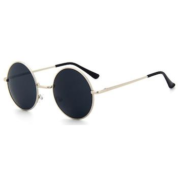 Ochelari de soare Rotunzi Retro John Lennon Bleumarin cu Argintiu, Albastru marin
