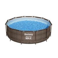 MYKONOS LUX rattan hatású fémvázas medence szett 366 x 100 cm