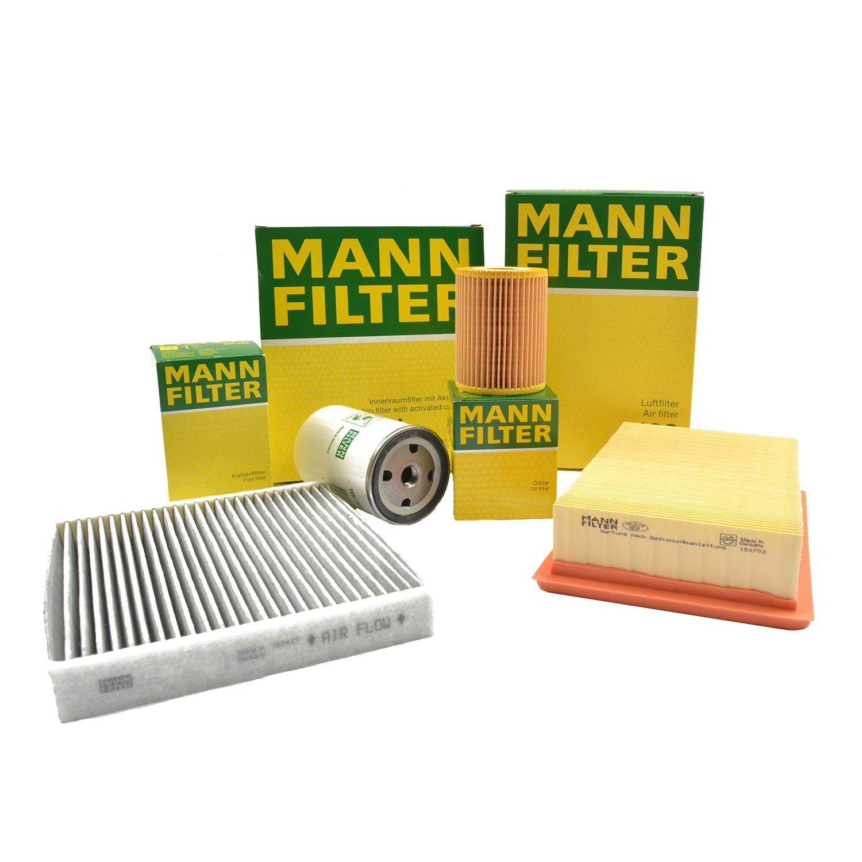 Fotografie Pachet filtre revizie Mann-Filter BMW Seria 3 E90 320 d 177 CP, de la 02.2010