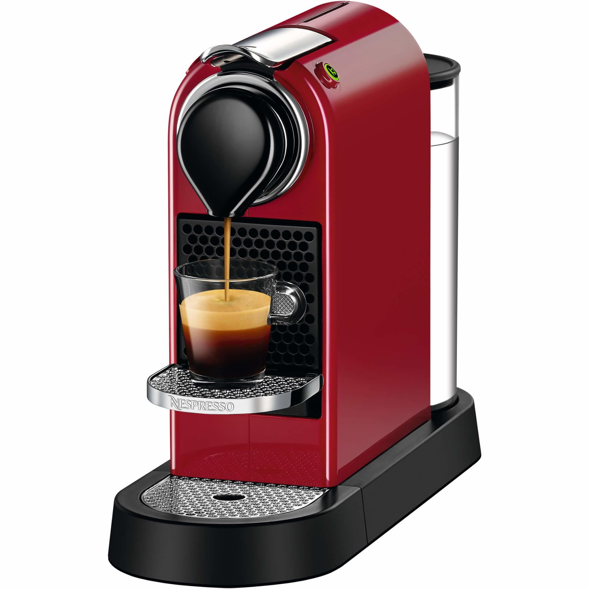 Fotografie Espressor Nespresso CitiZ Cherry Red C112-EU-CR-NE, 19 bari, 1260 W, 1 l, Rosu + 14 capsule cadou