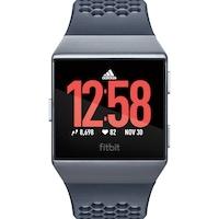 Fitbit Ionic Adidas Edition okosóra, Ezüst/Szürke, Tintakék/Jégszürke szíj