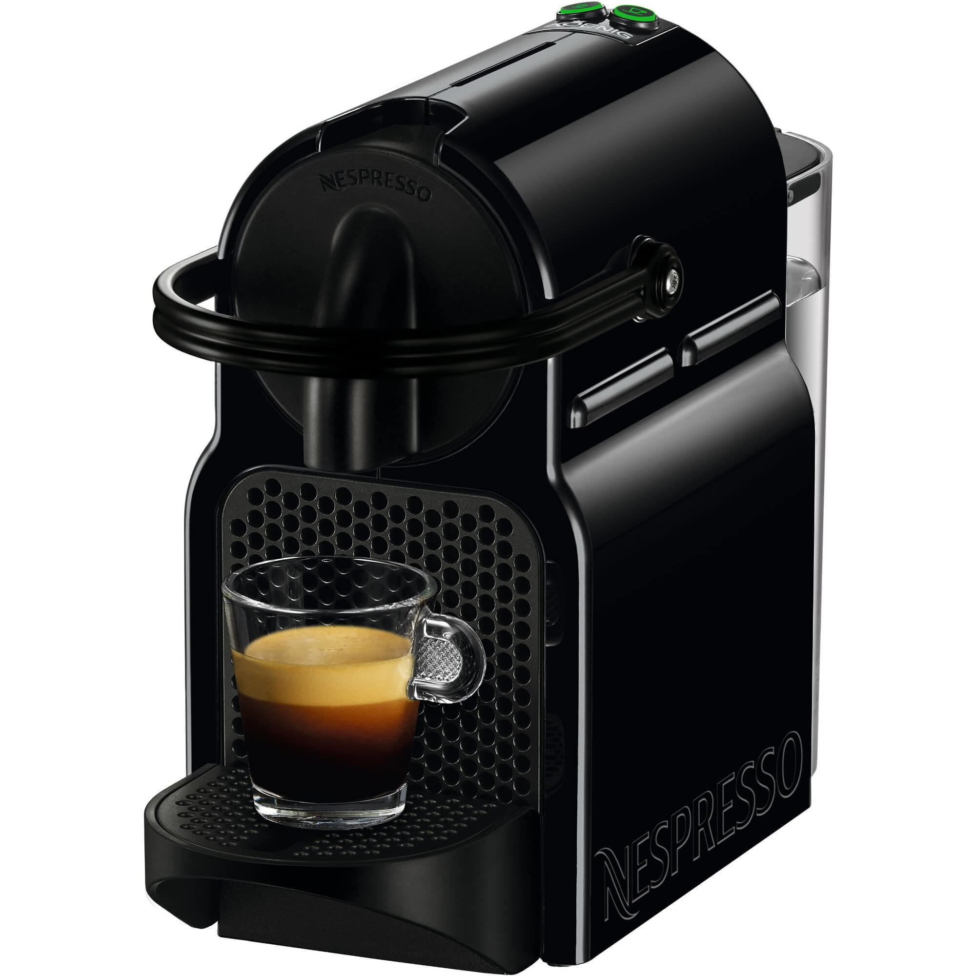 Fotografie Espressor Nespresso by De'Longhi Inissia Black, 19 bari, 1260 W, 0.7 l, Negru + 14 capsule cadou