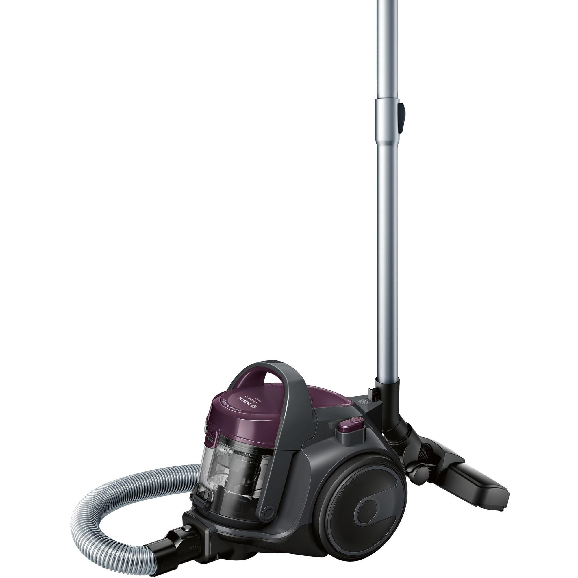 Fotografie Aspirator fara sac Bosch 3A BGC05AAA1, 700W, 1.5 l, Filtru igienic PureAir, Easy Clean, Negru/Mov