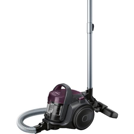 Прахосмукачка без торба Bosch 3A BGC05AAA1, 700W, 1.5 л, Филтър PureAir, Easy Clean, Черна/Лилава