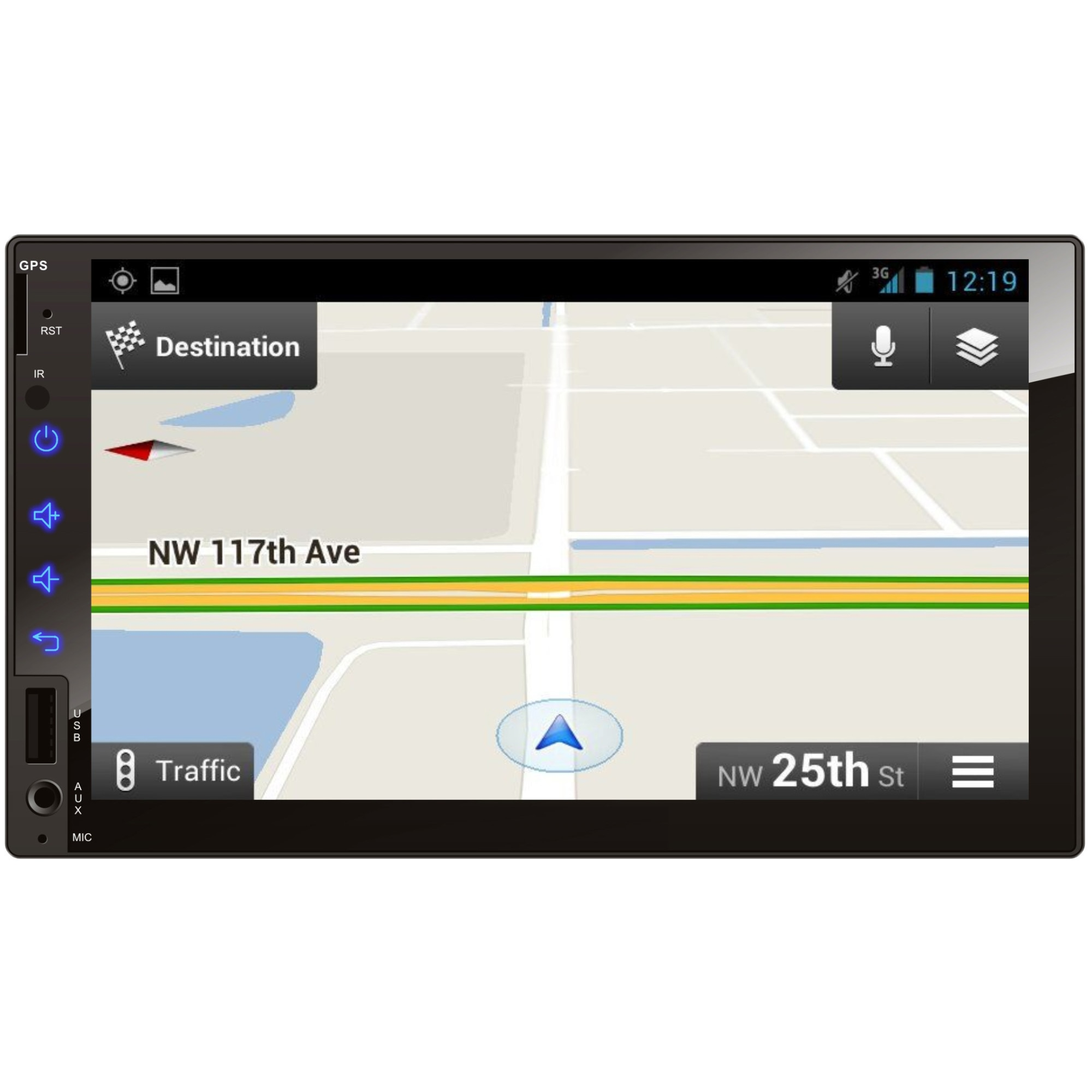 Fotografie Radio MP5 Player Auto 2Drive 9318, 4x25W, AUX, SD, MMC, Bluetooth, Touchscreen, Telocomanda, 2DIN, ecran 7''