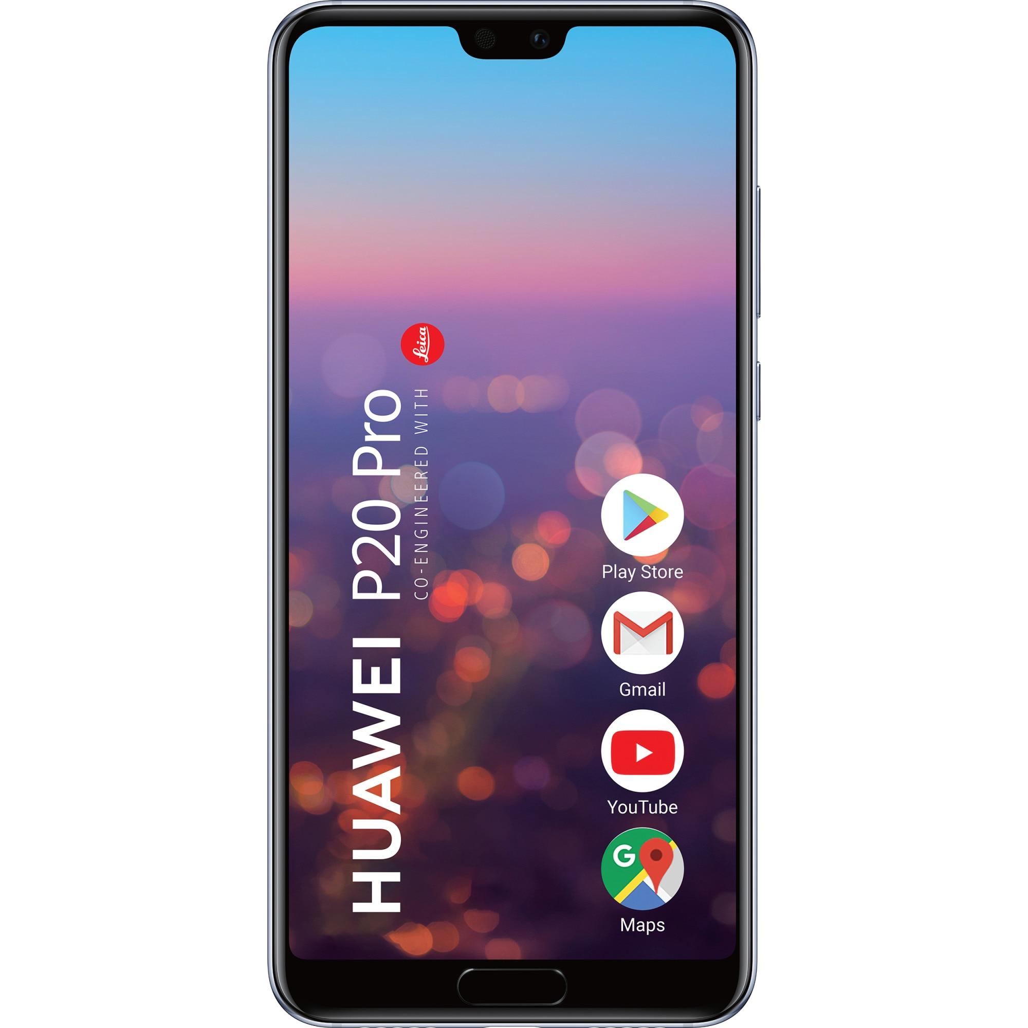 Fotografie Telefon mobil Huawei P20 Pro, Dual SIM, 128GB, 6GB RAM, 4G, Blue