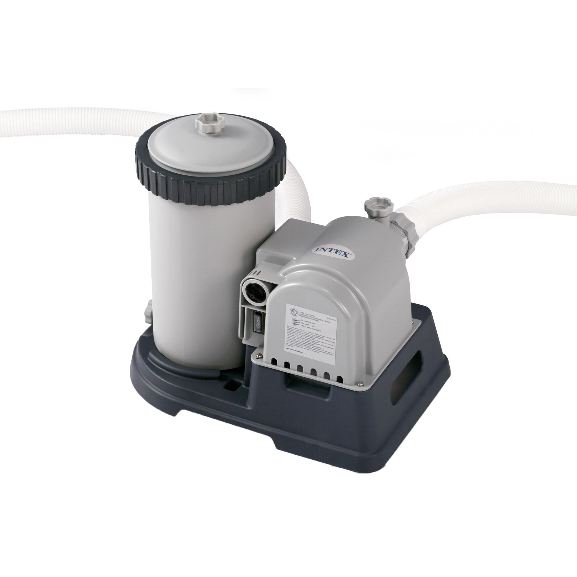 Fotografie Filtru apa Intex 28634, 220-240 V, 38 mm diametru, 9.463 l/h debit apa, pentru piscine pana la 50 m3