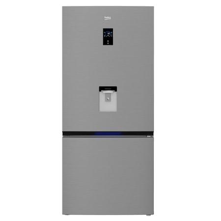 Хладилник с фризер Beko RCNE720E30DP, 577 л, Клас A++, NeoFrost, Active Fresh Blue Light, Диспенсър за вода, Дисплей със сензорен контрол, 191.5 см, Inox