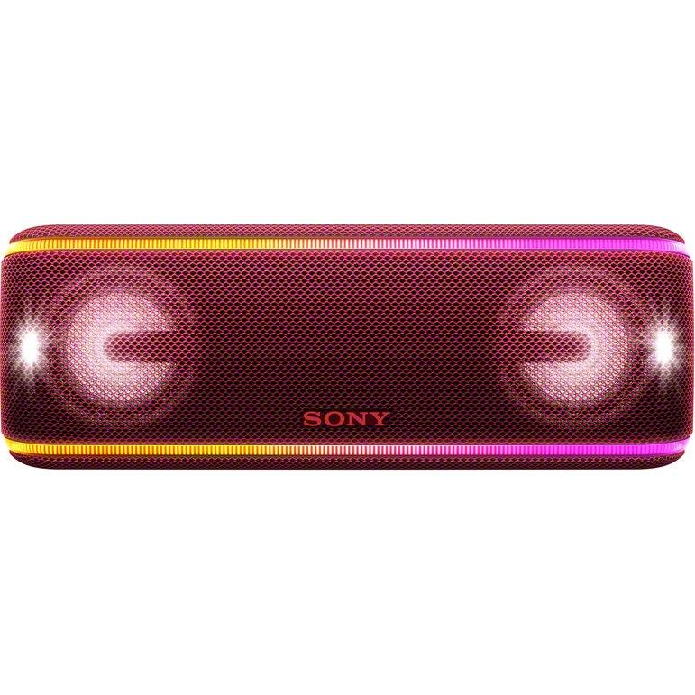 Fotografie Boxa portabila Sony SRSXB41R, EXTRA BASS, LIVE SOUND, Bluetooth, NFC, Wi-Fi, Wireless Party Chain, Party Booster, Rezistenta la apa, Efect de lumini, Rosu