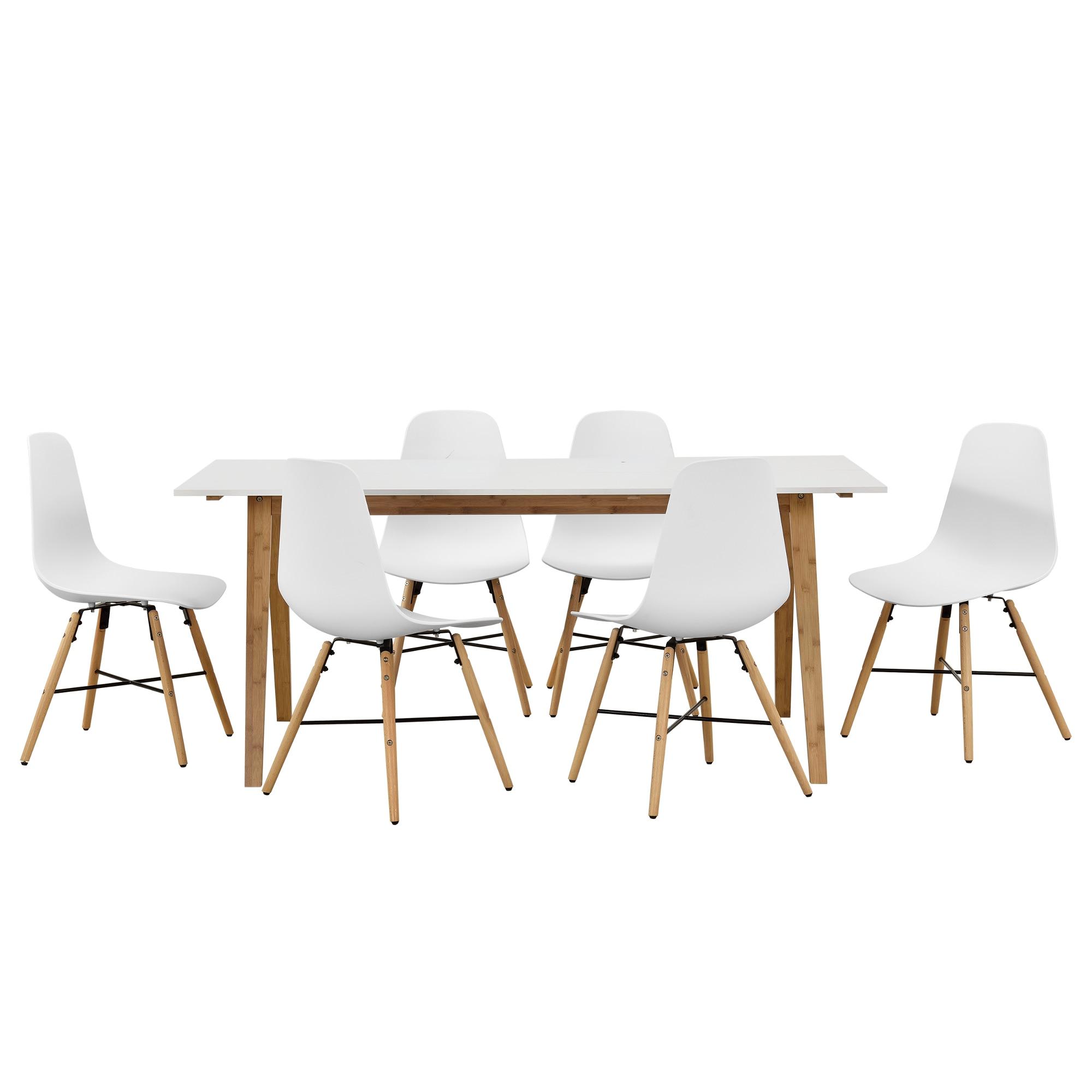 bambusz asztal székkel