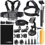 Аксесоари 19 в 1 за GoPro, Action Camera Accessories Kit for Go Pro Hero 6 5 4 3 2 1 Hero Session 5 Black AKASO EK7000 Apeman and More by LUSCREAL