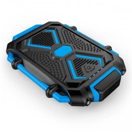 Преносима водоустойчива външна батерия S28, 7500 mAh, синя